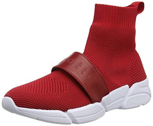 Para Zapatillas Cordones Mujer 3030 Sin Red Rojo Bugatti vqX0q