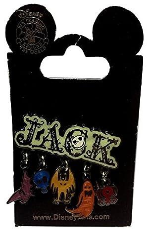 Disney Parks Jack Skellington Charm Trading Pin (Disney Pin Grab Bag)