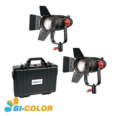 2 Pcs CAME-TV Boltzen 30w Fresnel Fanless Focusable LED Bi-Color Kit