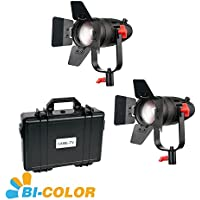 3 Pcs CAME-TV Boltzen 30w Fresnel Fanless Focusable LED Bi-Color Kit