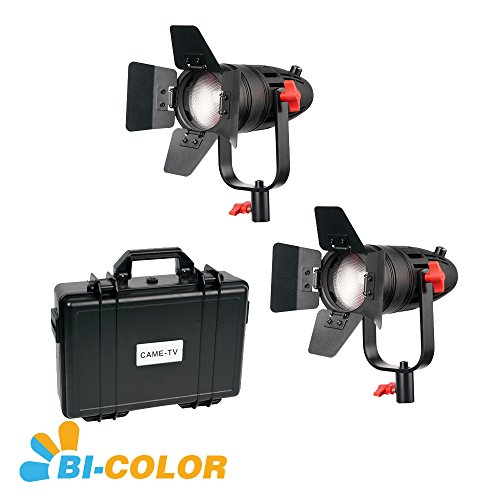 2 Pcs CAME-TV Boltzen 30w Fresnel Fanless Focusable LED Bi-Color Kit by BOLTZEN