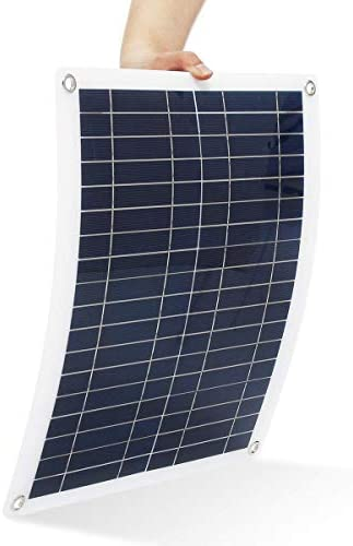 HIGHKAS 30W 18V polykristallines Solarpanel Semiflexibles Auto Schiff Outdoor Camping Notfalltelefonladegerät mit Solarladegerät Controller