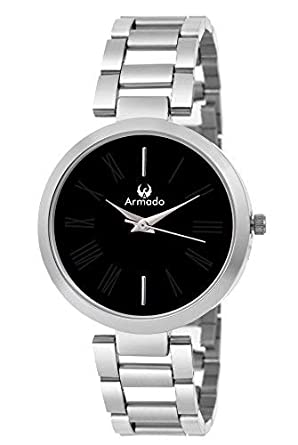 Buy Armado Quartz Movement Analogue Black Dial Women s Watch Online at Low  Prices in India - Amazon.in 157ce54d33