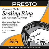 Presto Pressure Cooker Sealing Ring/Automatic Air Vent Pack (3 - 4 Quart)
