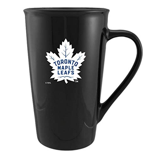 NHL Hockey Mug 20oz Black Venti Coffee Tea Leafs Penguins Habs Red Wings Bruins (Toronto Maple Leafs)