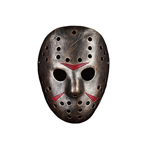 YUFENG Fashion Party Mask, Hight Quality Resin Masquerade Costume Decoration,collection,cosplay Halloween, Party, Gift,family Gathering Mask (Freddy Vs Jason (Deluxe Teen Jason Costume)