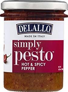 Delallo Simply Pesto Hot & Spicy Pepper - Made in Italy 6.35 oz.