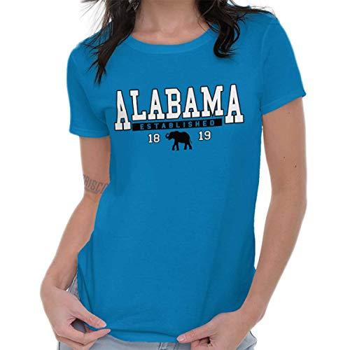 Classic Teaze Alabama Athletic Gym AL Tourist Uniform Ladies T Shirt Sapphire