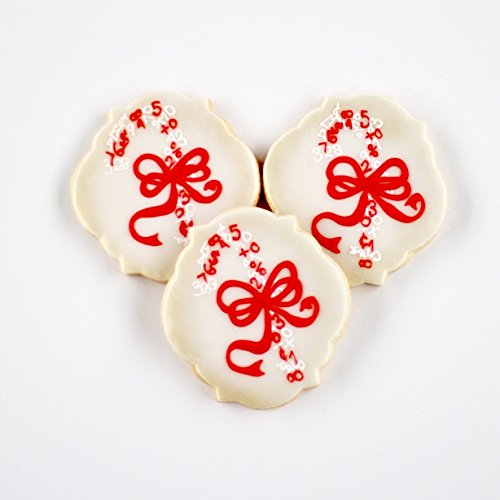 """½ Dz. """"Sweet Numbers"""" Candy Cane Cookies! Perfect Holiday Thank You gifts for Bankers, Advisors and More!"""
