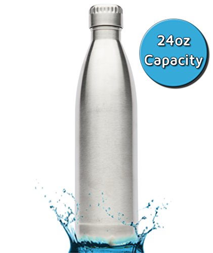 Inspired-Home-Living-Stainless-Steel-Water-Bottle-24-oz700ml-Silver-Double-Wall-Vacuum-Insulated-Eco-Friendly-Water-Canteen-No-BPA-or-Toxins-No-Condensation-or-Metal-Aftertaste-Travel-Thermos