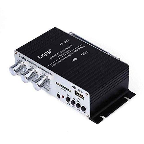 Tralntion Multi-Functional Enhancer Player Household Amplifiers FM MP3 USB Card Stereo Audio Car Power Speaker for lepy A68 (Books Iris Johansen Audio By Mp3)