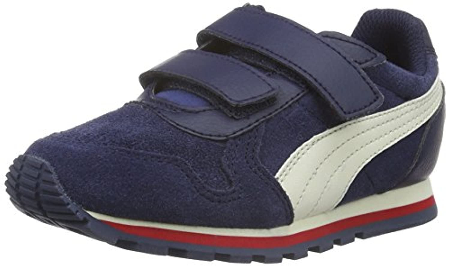 Puma Unisex Kids' ST Runner SD V PS Low-Top Sneakers Red Size: 1