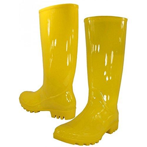 WearItti Rain Boots, Waterproof Shoes, Rubber Boots (9, Yellow)]()