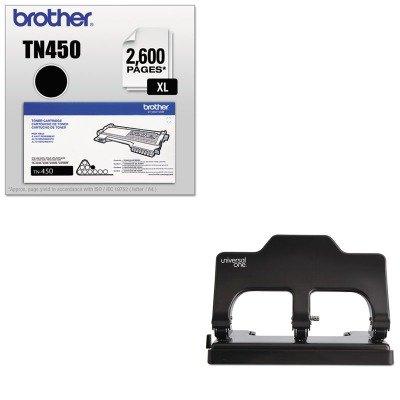 KITBRTTN450UNV74325 - Value Kit - Universal 30-Sheet Three-Hole Power Assist Punch (UNV74325) and Brother TN450 TN-450 High-Yield Toner (BRTTN450)