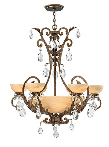 Fredrick Ramond FR44102SLF Six Light Chandelier Barcelona Fredrick Ramond Lighting