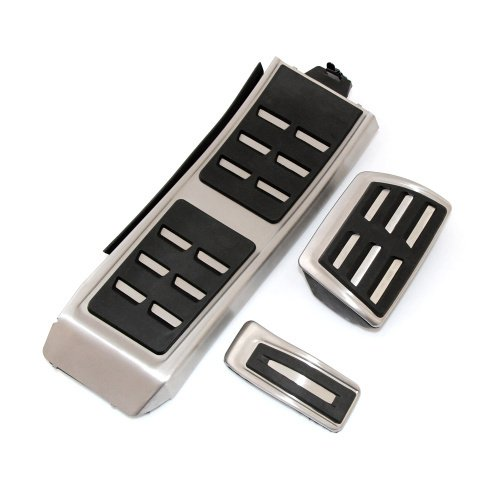 Trudged(TM) MT and AT Gas Brake Foot Pedal Set Rest Fuel Pedals For AUDI S4 RS4 A5 S5 RS5 8T A6 4G S6 (C7) Q5 RS5 A7 S7 SQ5 8R LHD 2009 + by Trudged