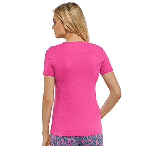Schiesser v-neck s/sleeves 151324, pink, S