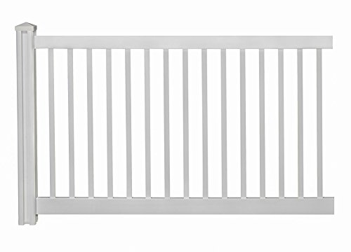 WamBam Vinyl Pool Fence Panel with Post and Cap - 4 ft. x 7 ft.