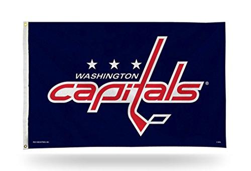 Washington Capitals NEW LOGO Design Rico 3x5 Flag w/grommets Outdoor House Banner NHL Hockey