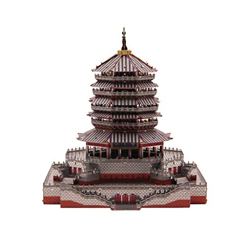 Fenteer 1:720 Vintage 3D Metal Puzzle Educational Toy - Leifeng Pagoda Tower Architecture Statue Figurine Model Home Decor Collections