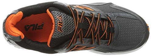 Fila Men's Royalty 2 Running Shoe, Dark Shadow/Vibrant Orange/Black, 8 M US