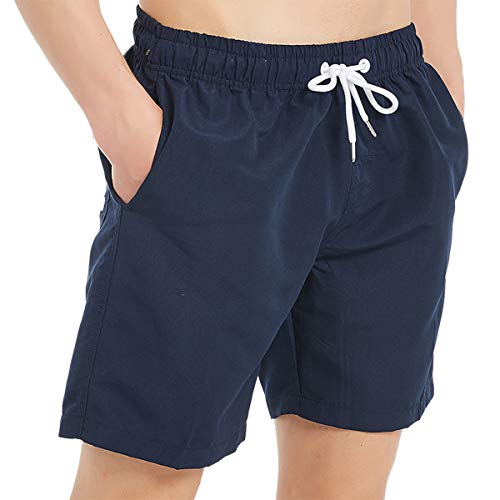 Gradient Turtles On Beach Mens Swim Trunks Beach Shorts with Mesh Lining Boardshort