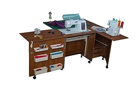 Comfort 5+ | Muebles para máquinas de coser y overlock | (Beech Ellmau, L (Air-Lifter to 15kg)): Amazon.es: Hogar
