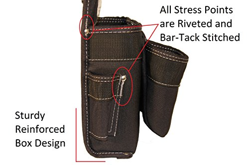 Gatorback B145 Carpenters Triple Combo w/Pro-Comfort Back Support Belt. Heavy Duty Work Belt (X-Large 40''-44'') by Gatorback (Image #1)