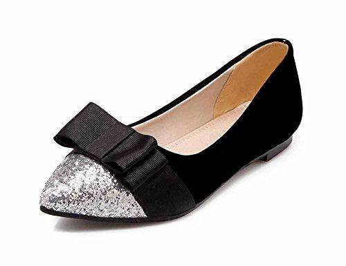 paillettes Black grandi di Scarpe basso archi dimensioni Scarpe Scarpe basse con tacco Mary con Jane 67PxwqtrC7