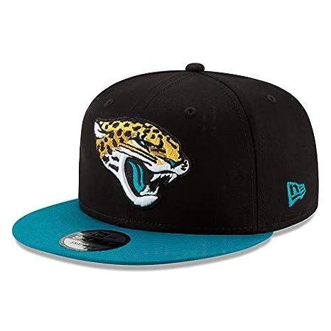 29319de9 Amazon.com : New Era Jacksonville Jaguars Hat NFL Black Teal 2Tone ...