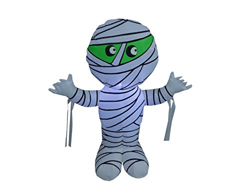 BZB Goods 4 Foot Tall Halloween Inflatable Mummy LED Lights Decor Outdoor Indoor Holiday Decorations, Blow up Lighted Yard Decor, Lawn Inflatables Home Family Outside
