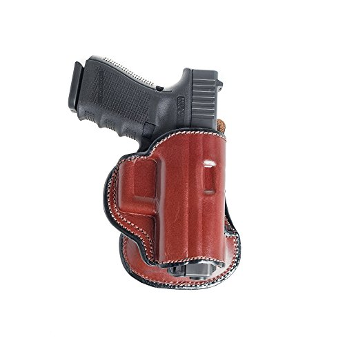 Paddle Leather Holster For Glock 17. Leather OWB Paddle with Adjustable Cant. (C300 Holster)