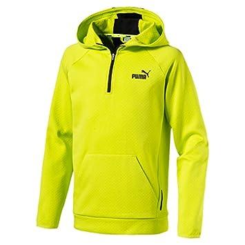 1c846d2cd2d6b Puma Sweat-shirt de sport pour enfant avec capuche et demi-fermeture   Eacute
