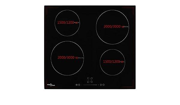 Gecheer Placa Vitrocerámica de Inducción 4 Quemadores Táctil ...