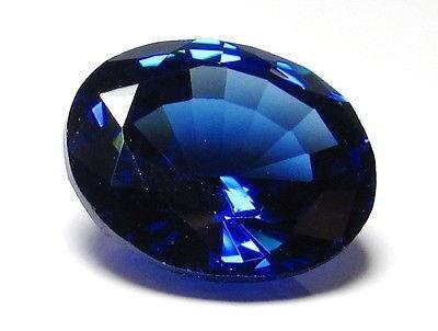 Getgemstones Lab Created Blue Sapphire Gemstone Certified Loose Precious Stone 7.6 Carat
