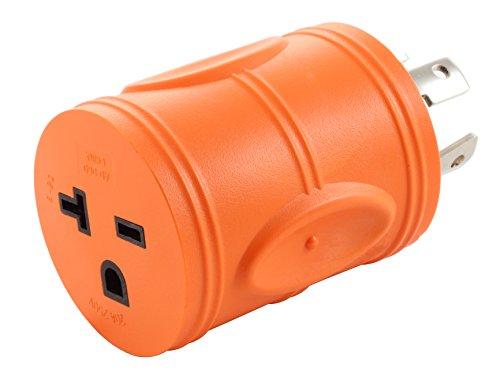AC WORKS [ADL1430620] NEMA L14-30P 30Amp 125/250Volt Locking Plug to NEMA 6-15/20R 15/20Amp 250Volt Female Connector