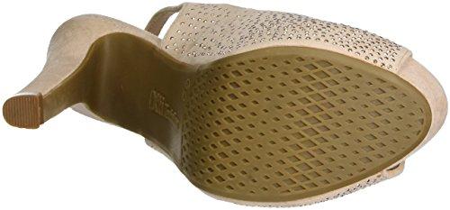 Aperta nude Scarpe Rosa Xti Col Microfiber Tacco Punta Ladies Shoes Nude Nude Donna awPUB8