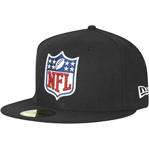 New Era NFL Shield Logo 59FIFTY Fitted Football Cap Schwarz 7 1/4