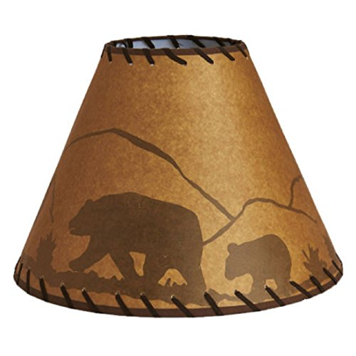 CATALINA Hand-crafted Oil Paper Lamp Shade - Bear and Cub Th