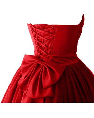 lungo tulle a vestimento raso di vestimento giovane in corta a facile Victory colore vestimento forma stanotte cuore vestimento Rosso Bete sposa ball wUHqPpF