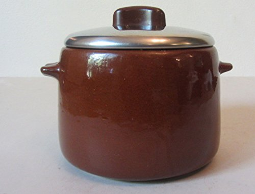 Vintage Bean Pot - West Bend Vintage Brown Glaze Ceramic Crock Bean Pot Slow Cooker w/ Lid