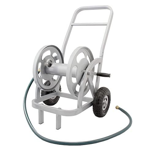Liberty Garden Products 1200 Silver 2 Wheel Garden Hose Reel Cart, Holds  200