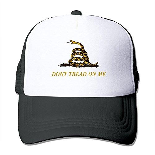 Cool Don't Tread On Me Trucker Mesh Baseball Cap Hat One Size Black