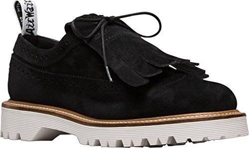 Dr. Martens Kvinna 3989 Ii Kiltie Läder, Gummi, Mocka Mode Loafers Svart