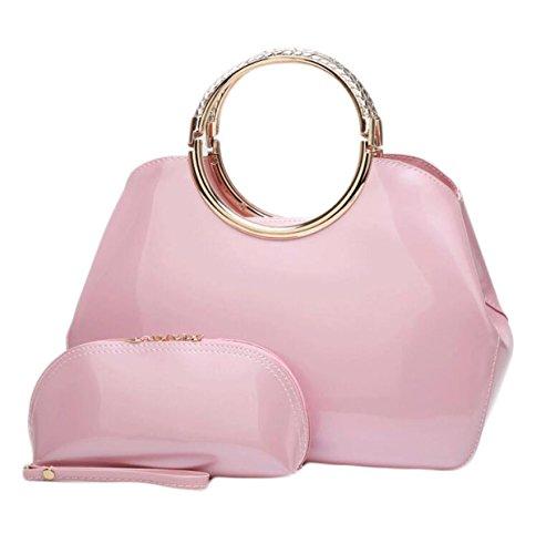 Dames Verni Sac Main Cuir Mariée Main Pink à à En Sac Sac De Mode Sacs à Main Zz7cff