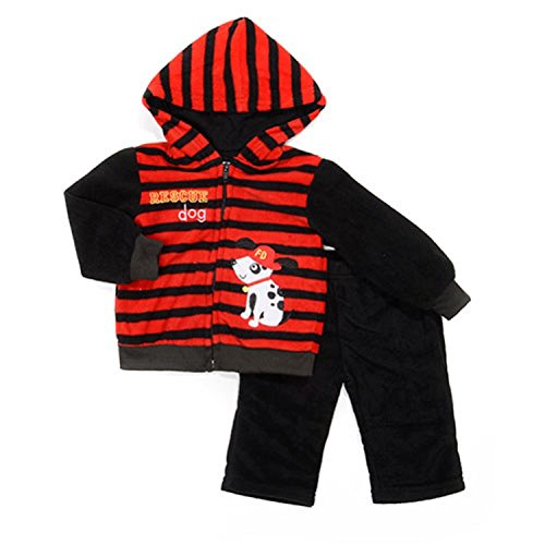 Buster Brown Baby Boy Rescue Dog Hoodie Set 6-9 Months, (Dog Brown Hoodie)