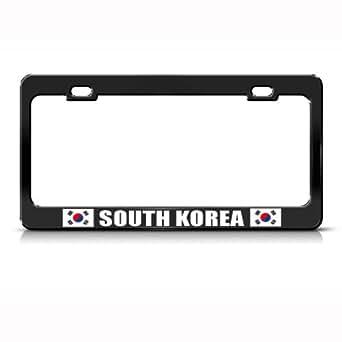 Amazon Com South Korea Flag Black Country Metal License