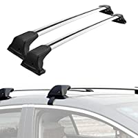 ALAVENTE Universal Roof Rack Cross Bar Set with Lock for Most Vehicle Wagon without Roof Side Rail (Pack of 2, Chrome)
