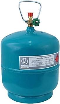 Botella de gas vacía rellenable, 3 kg/7,2 l, para camping, barbacoa, barco, propano, butano, gas