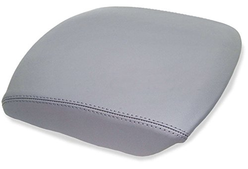 QKPARTS Fits 09-13 HONDA PILOT GRAY REAL LEATHER CENTER CONSOLE LID ARMREST COVER (Pilot Shade Gray)